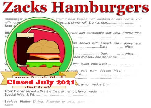 Zacks hamburgers Located at South Blvd and Scaleybark